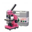 Микроскоп Эврика 40х-400х фуксия (в кейсе)