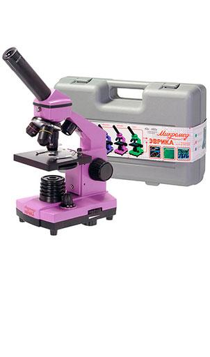 Микроскоп Эврика 40х-400х Аметист (в кейсе)